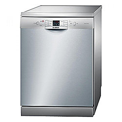 Bosch SMS53M08GB Fullsize Dishwasher A++ Energy Rated in Silver