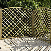 6FT Pressure Treated Convex Diamond Trellis - 1 Panel Only 6'
