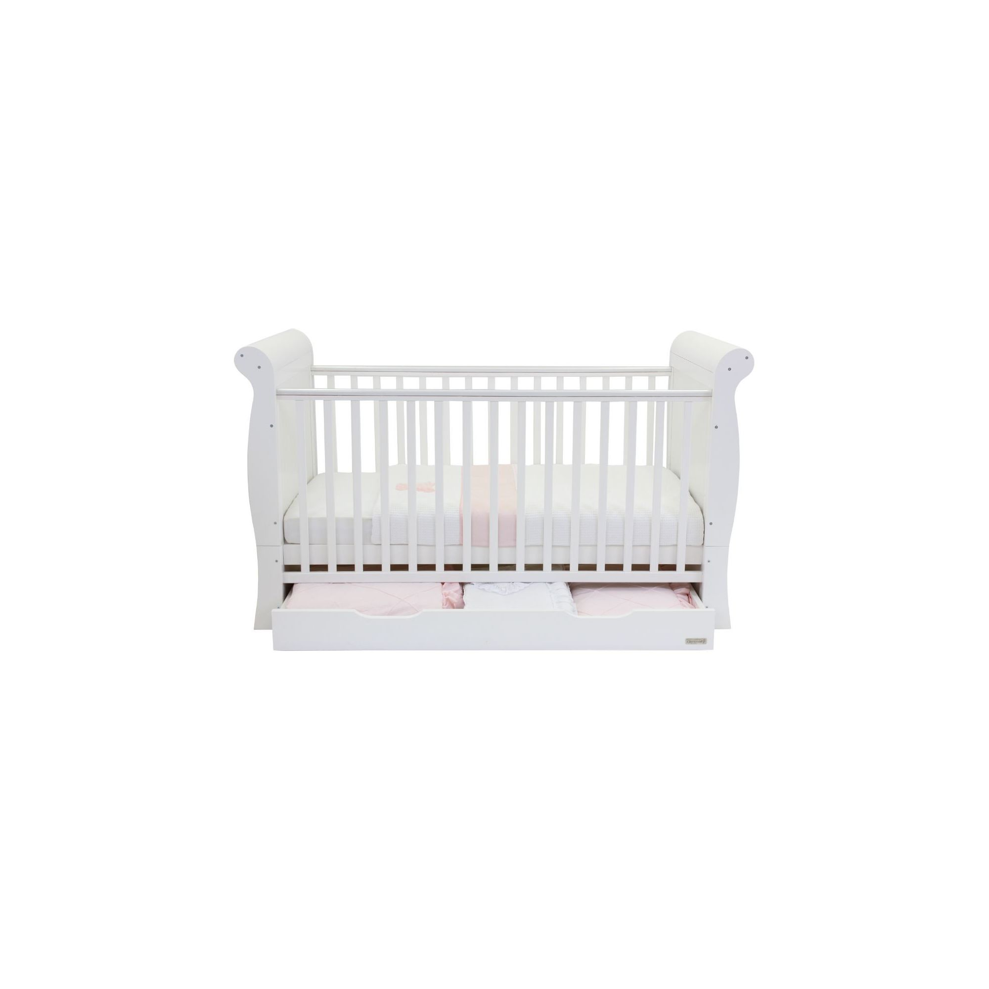 Babystyle Hollie Sleigh Bed in White at Tescos Direct