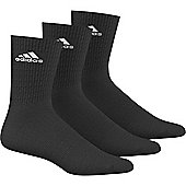 adidas Performance Crew Half Cushioned Sport Socks 3 pack - Black