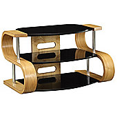 Jual Curve - Curved Oak and glass TV Stand for up to 37