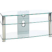 MMT Jet CL1000 Clear Glass TV Stand for up to 47 inch TVs