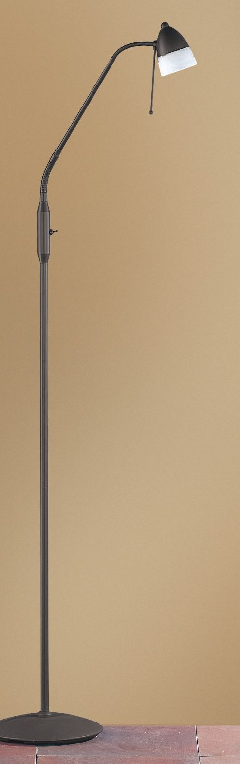 Wofi Ali One Light Floor Lamp - Rust/Brown