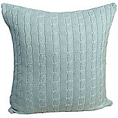 Homescapes Cotton Cable Knit Duck Egg Blue Cushion Cover, 45 x 45 cm