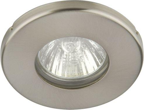 Knightsbridge Bathroom Ceiling Light in Brushed Chrome