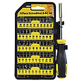 Rolson 51pc Screwdriver & Bit Set