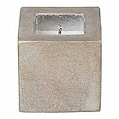 Parlane Medium Pretty Square Candle Cube In Grey