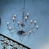 Metal Lux Dedalo Chandelier - Chrome Plated