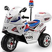 Kids 6v Police Rescue Motorbike - White