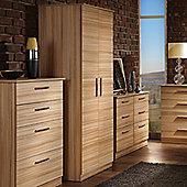 Welcome Furniture Contrast Plain Midi Wardrobe - Cocobola - 127cm H
