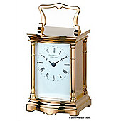 David Peterson Ltd Quartz Bow Fronted Carriage Clock