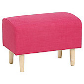 Tub Footstool Fabric Plain / Pink