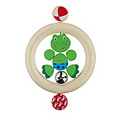 Heimess 735160 Wooden Ring Rattle (Frog)