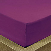 Julian Charles Percale Mulberry Luxury 180 Thread Count Fitted Sheet - Single