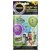 DISNEY FAIRIES LIGHT UP BALLOONS 5pk