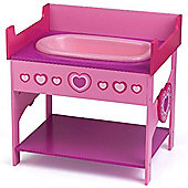Dolls World Wooden Changing Table and Bath