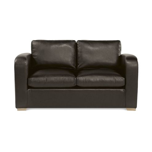 Buy richmond sofabed faux leather brown from our sofa beds for Sofa bed tesco