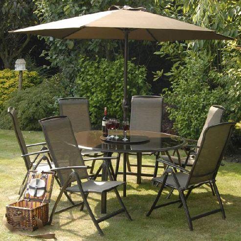 Buy Suntime Havana Bronze Six Seat Round Patio Set From Our Garden Furni