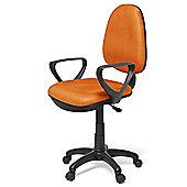 Hispanohogar Office Chair - Orange