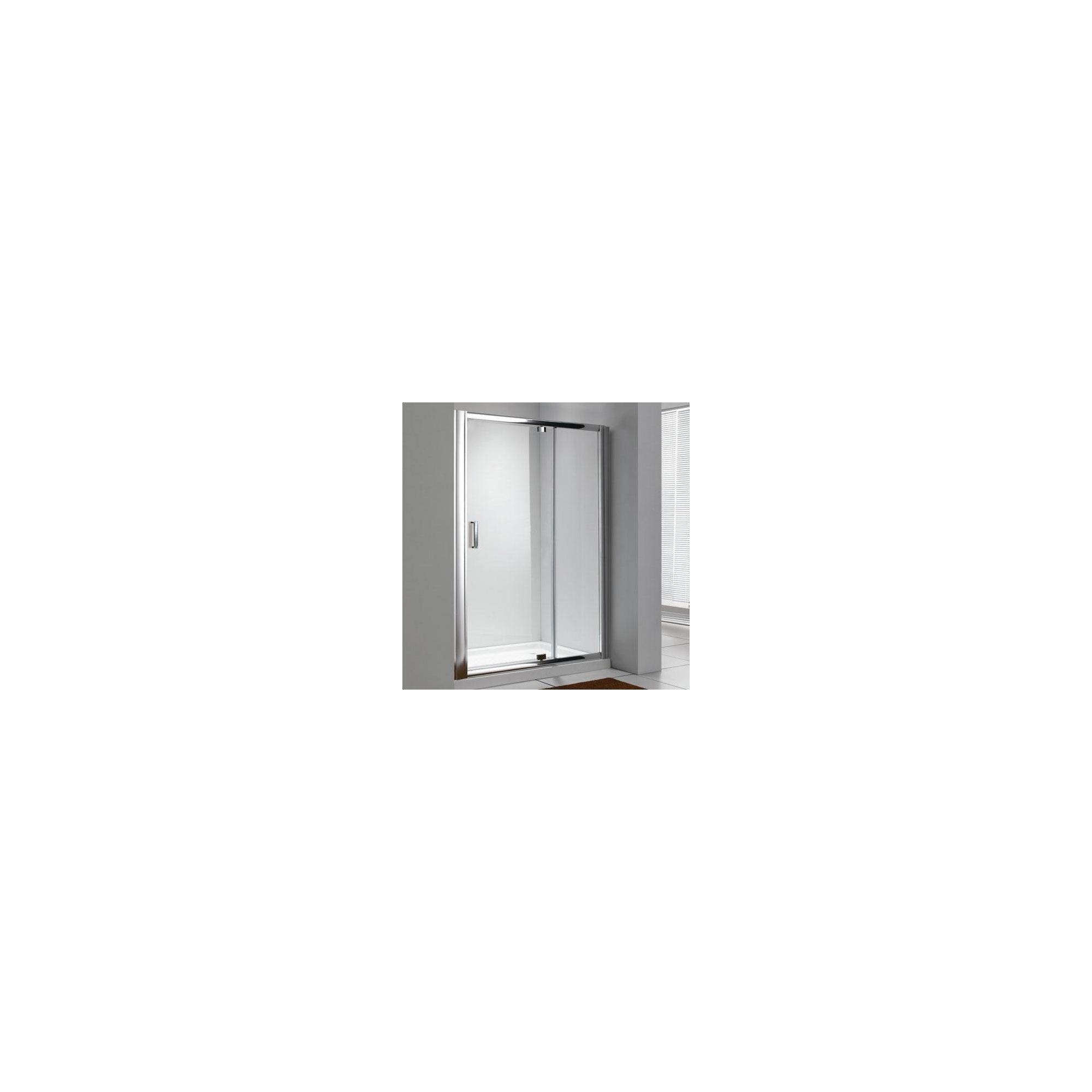 Duchy Style Pivot Door Shower Enclosure, 1100mm x 760mm, 6mm Glass, Low Profile Tray at Tesco Direct