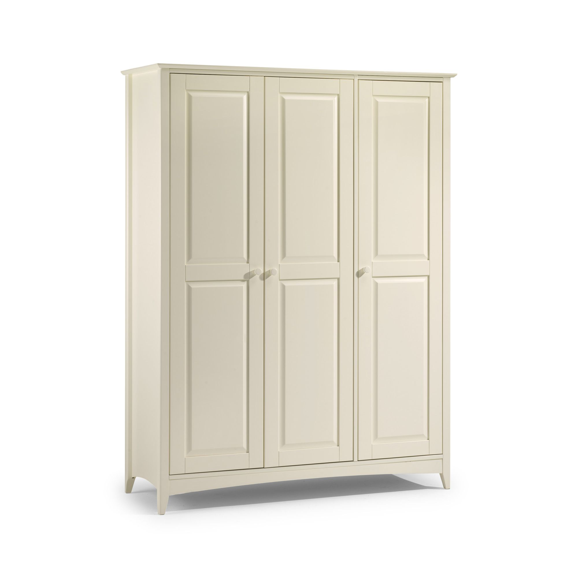 Julian Bowen Cameo 3 Door Wardrobe in Off White Lacquer at Tesco Direct
