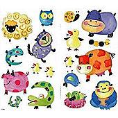 Spotty Animals Bedroom Stickers - Polkadot