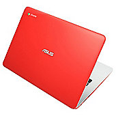 Asus C300 13.3 inch Chromebook  Intel Celeron 2GB Memory 16GB Storage Red