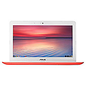 "ASUS C300, 13.3"" Chromebook, Intel Celeron, 2GB RAM, 32GB - Red"