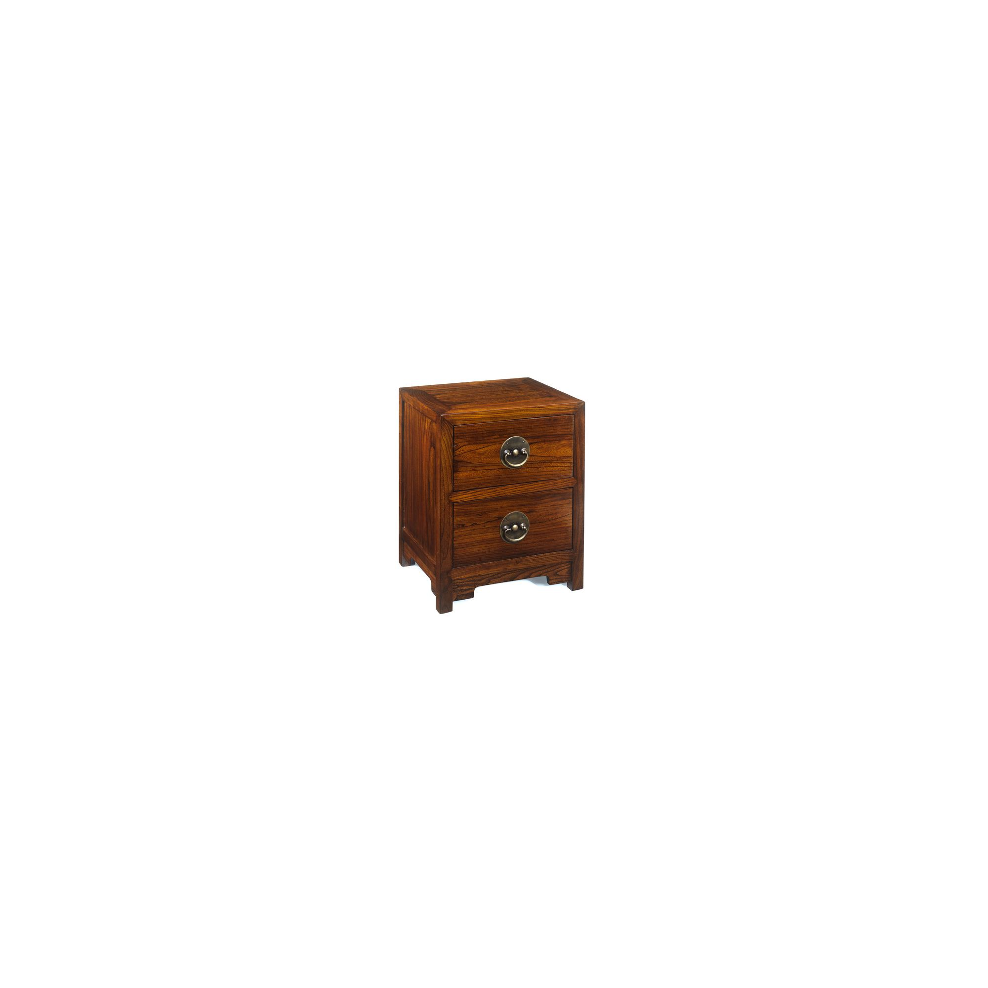 Shimu Chinese Classical Ming Two Drawer Chest - Warm Elm at Tesco Direct