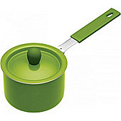 Green Mini Non-Stick Saucepans with Soft Grip Handle
