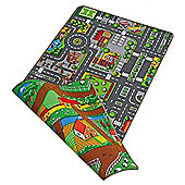 Children's Dual Playmat 80x120cm Roadmap/Farmlife Rug