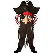 Child Pirate Mad Hatter Costume Medium