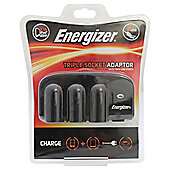 Energizer Triple 12V Socket & Twin USB Adapter