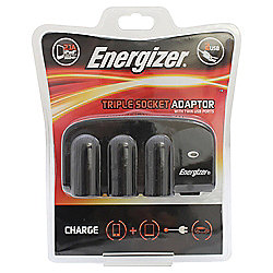 Energizer Triple 12V Socket & Twin USB Adapter