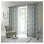 "Woodland Lined Eyelet Curtains W117xL137cm (46x54"") - - Duck egg"