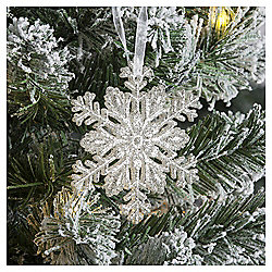 Silver Snowflake Christmas Tree Decoration
