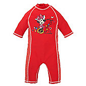 Minnie Mouse Baby Girl's Sunsafe Suit - UPF 50 Size 3-6 months