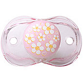Raz-baby Keep It Kleen Pacifier Dummy Pink Flowers And Hearts Design