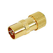 Gold Plated Coax Line Socket