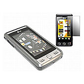 Black Twin Pack ProGel Skin Case & LCD Screen Protector - LG KP500 Cookie