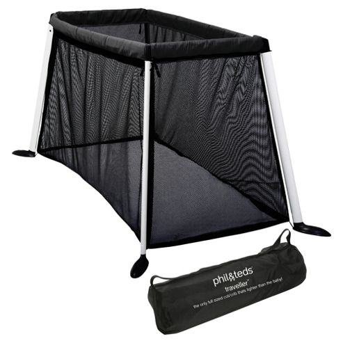 PhilTeds Traveller Cot Black