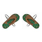 Camouflage Flip Flops Cufflinks