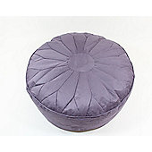 Kaikoo Moroccan Faux Suede Large Pouffe, Lilac