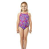 Speedo Infant Girl's 'Seasquad' Thinstrap Swimsuit - Purple