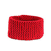 Homescapes Basket - Knitted - Red - 37 x 21 cm