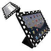 Orzly Tri-Fold Case for Apple iPad 2, 3, 4 - Black Polka