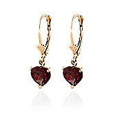 QP Jewellers 3.05ct Garnet Especial Affection Heart Earrings in 14K Rose Gold