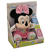 Talking Baby Minnie Mouse Soft Cuddly Toy