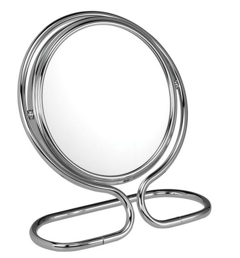 Famego 10X Magnification Folding/Travel/Stand 13cm Mirror in Chrome