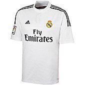 2014-15 Real Madrid Adidas Home Football Shirt - White